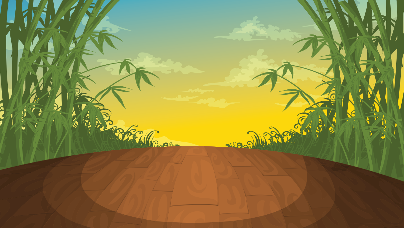 background scene - bamboo stage