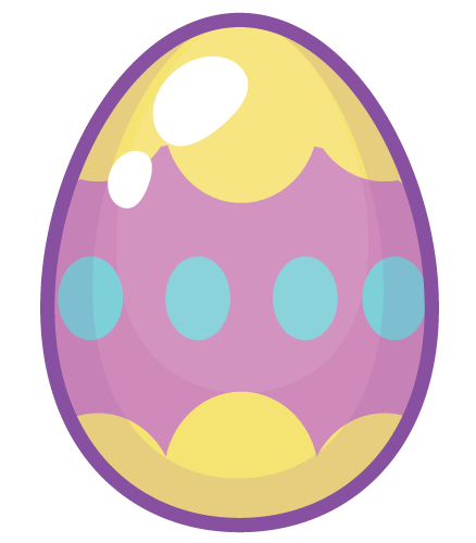 Decoration - purple yellow egg