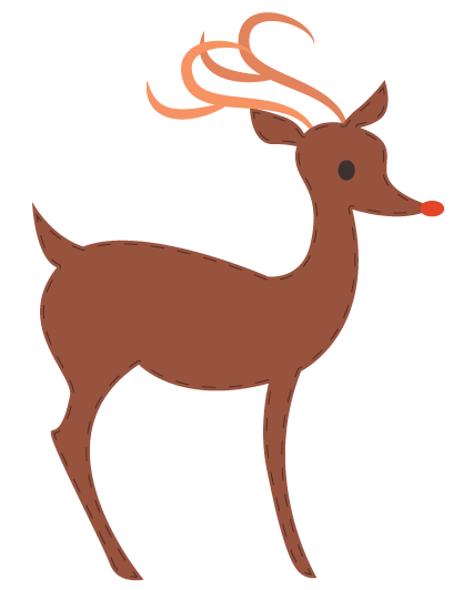Decoration - ReindeerSticker