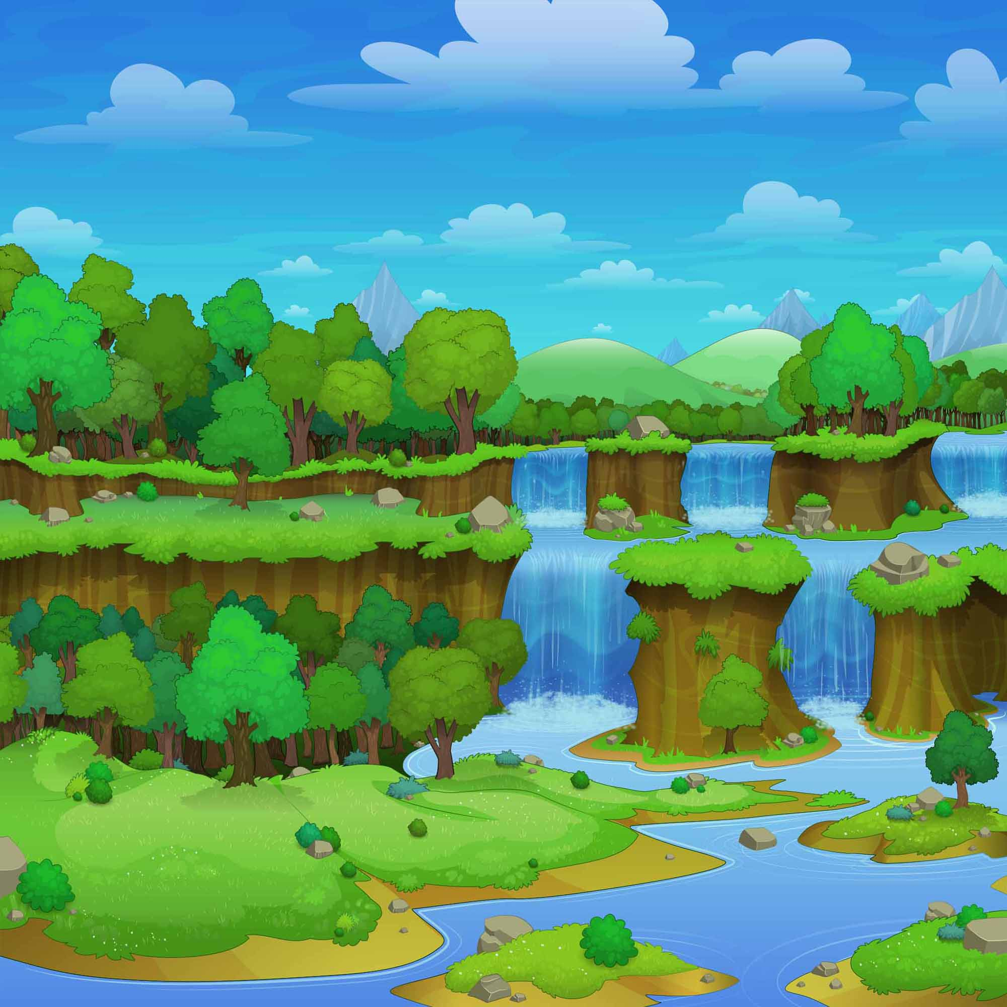 background scene - Firewall Forest Background
