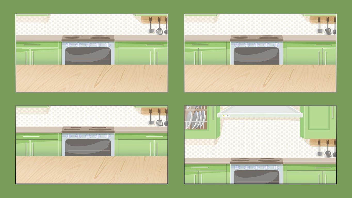 background scene - comic template kitchen