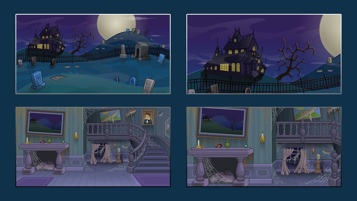 background scene - comic template spooky 2