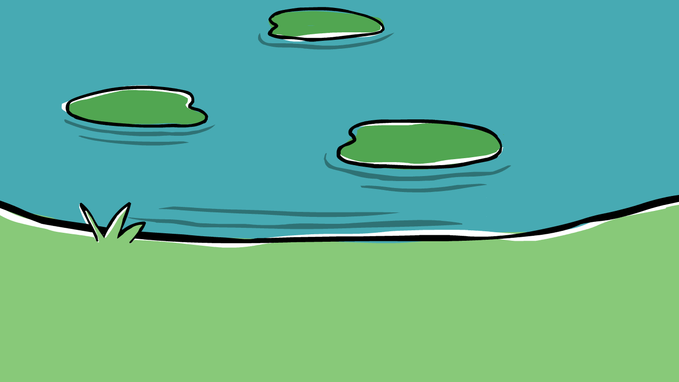 background scene - pond
