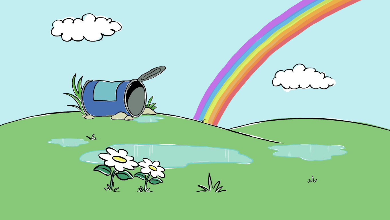 background scene - Peep Rainbow