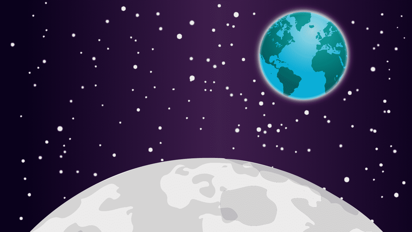 background scene - Earth Moon 3