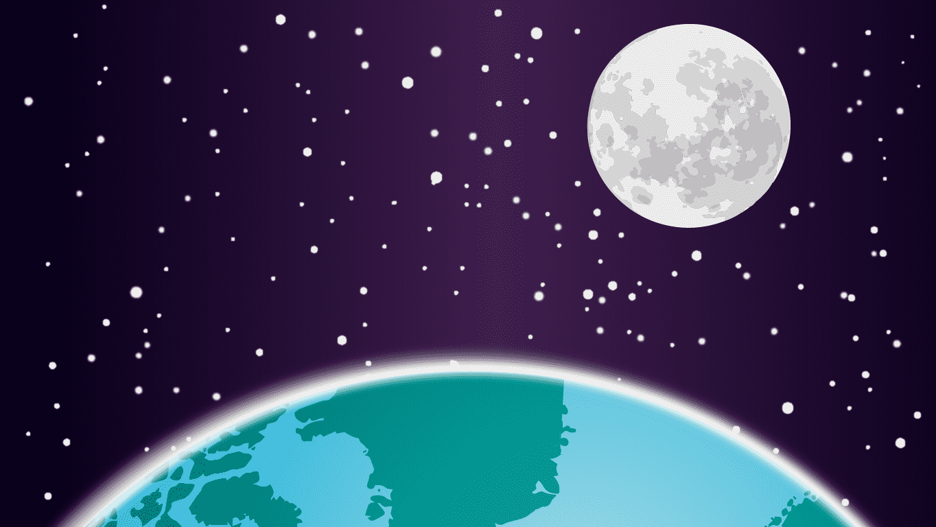 background scene - Earth Moon 1