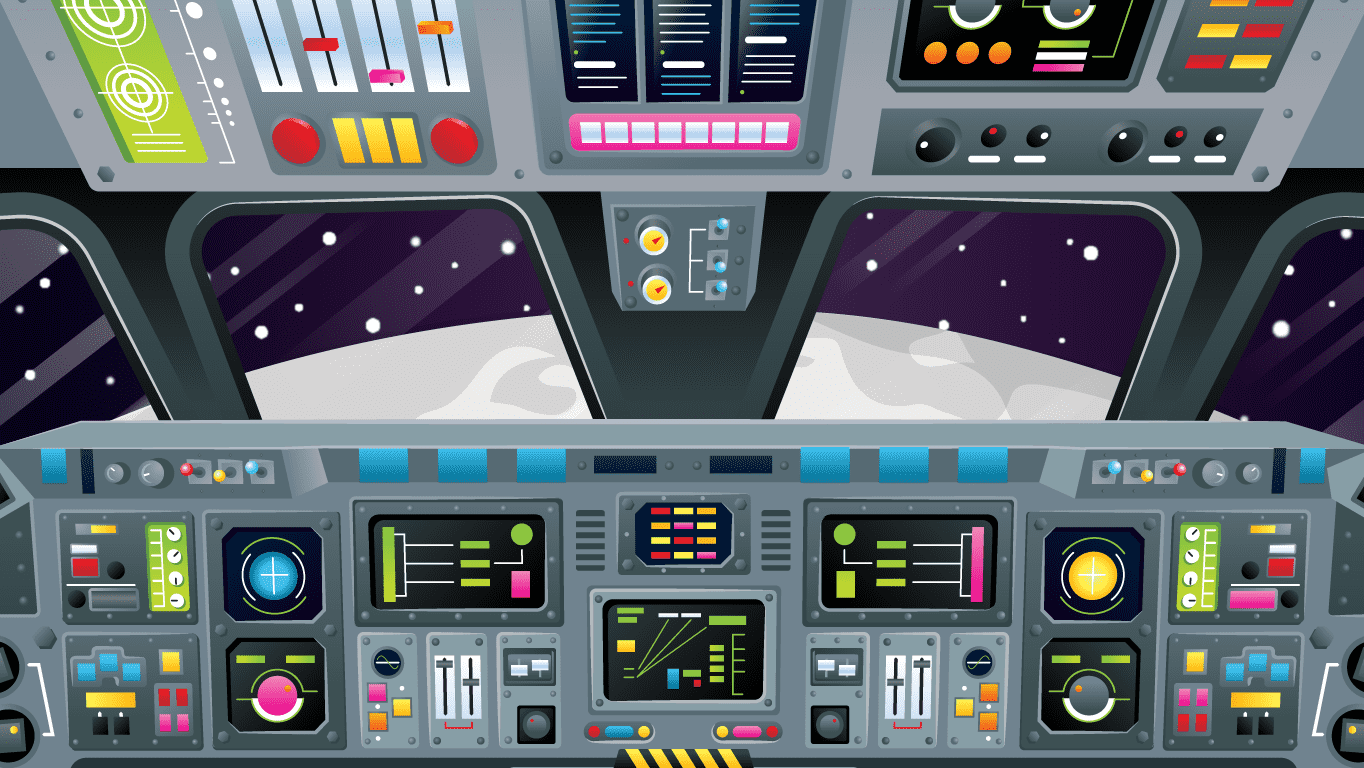 background scene - Cockpit Moon