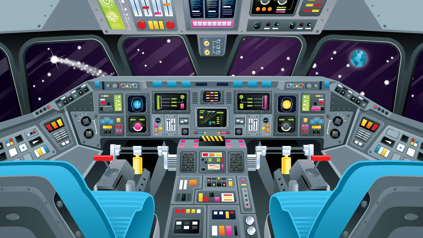 background scene - Cockpit Space