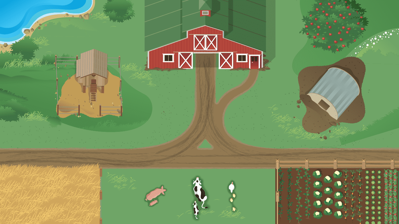 background scene - Farm Top View