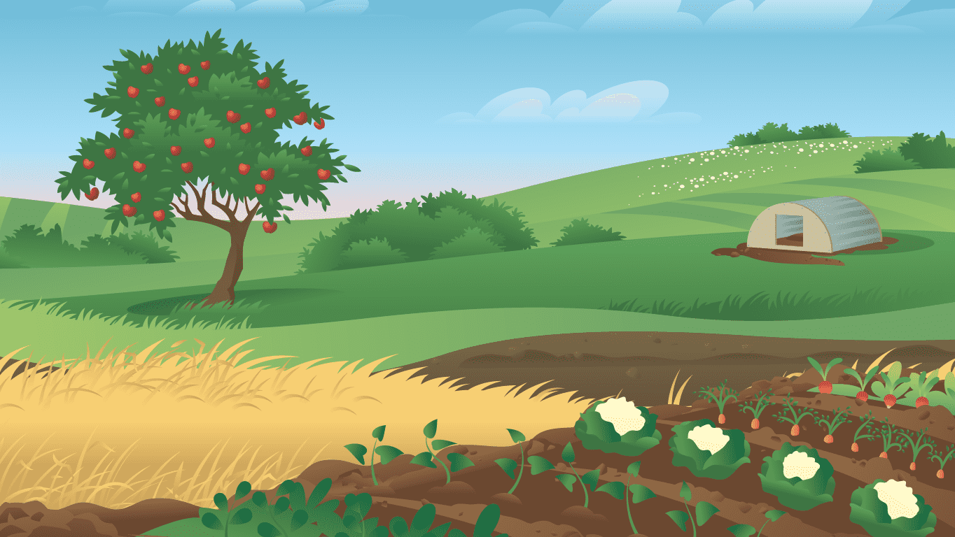 background scene - Farm Field 3