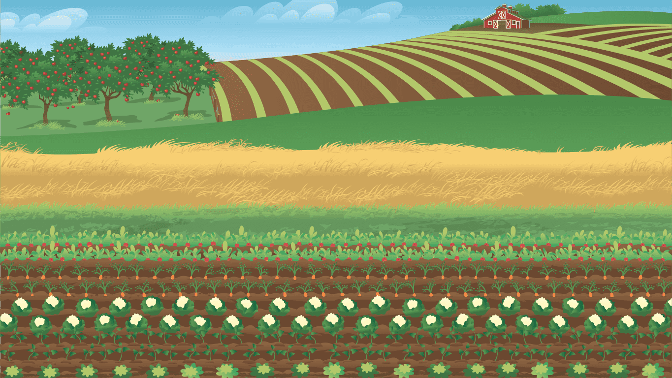 background scene - Farm Field 1