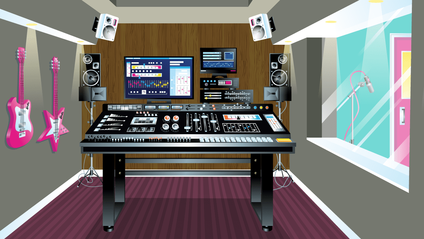 background scene - Recording Studio