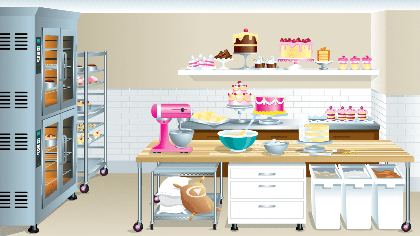 background scene - Bakery Inside