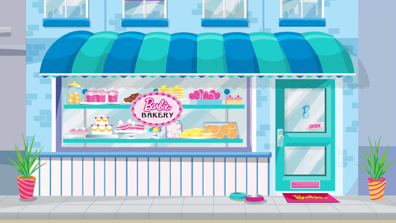 background scene - Bakery Outside
