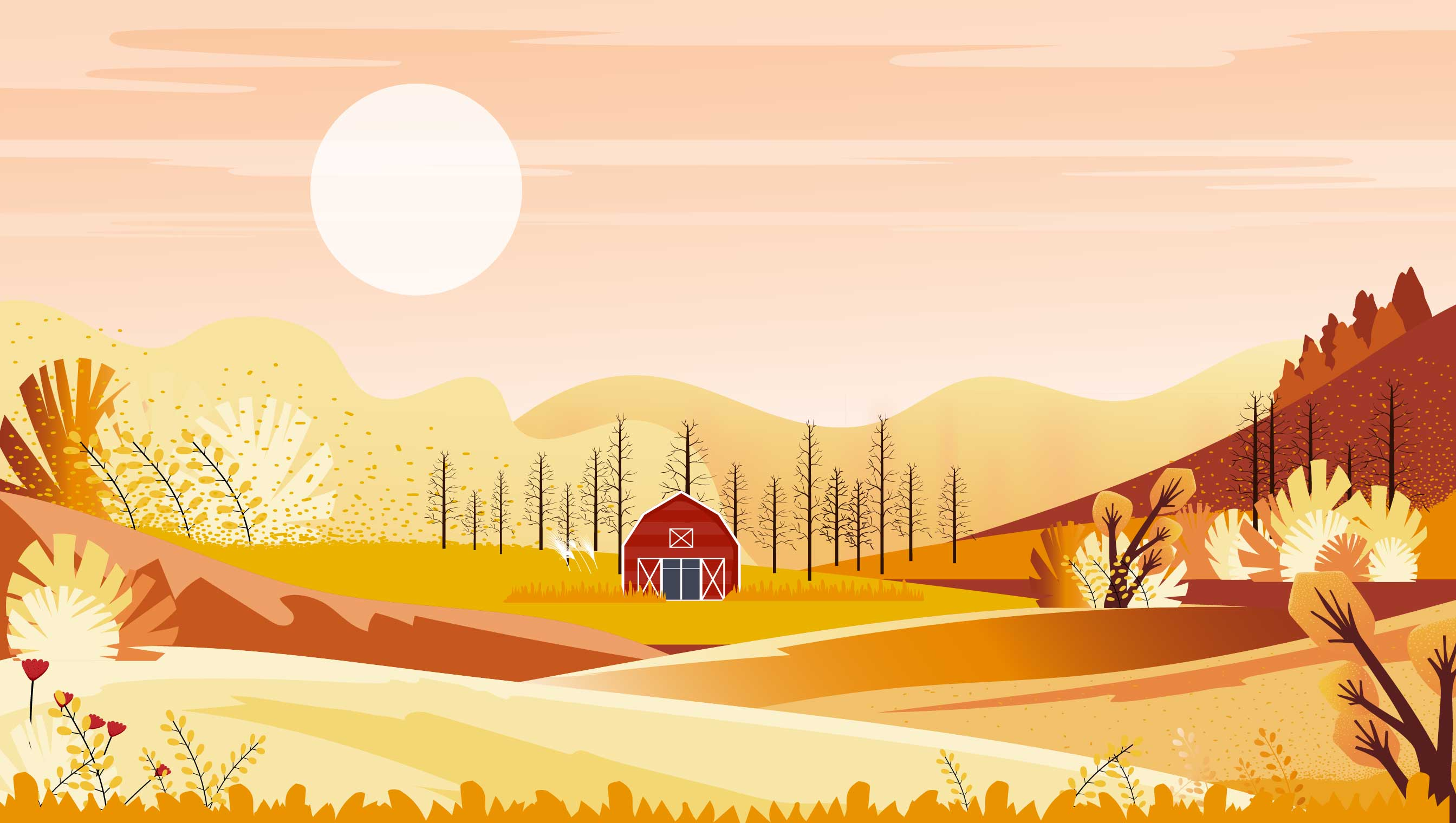 background scene - Fall Scene 2
