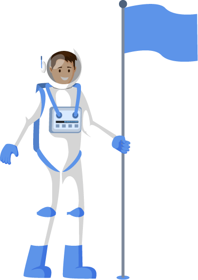 Building 4 - Astronaut Man with Flag 1