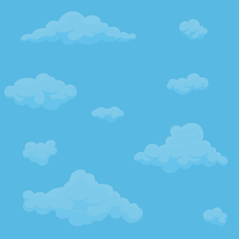 background scene - Cloud - Blue