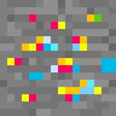 rainbow ore | Minecraft Blocks | Tynker