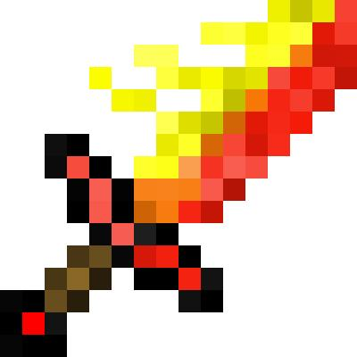 Fire Sword Minecraft Items Tynker
