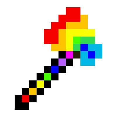 Rainbow Axe | Minecraft Items | Tynker
