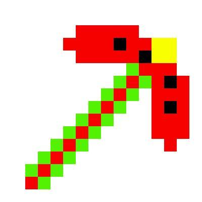 Watermelon pickaxe   Minecraft Items   Tynker