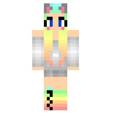 Cute Rainbow Cat Girl Minecraft Skins Tynker