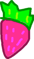 strawberry flavor - drawing