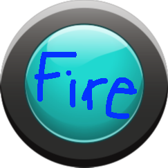 Fire Button - Cyan Button On