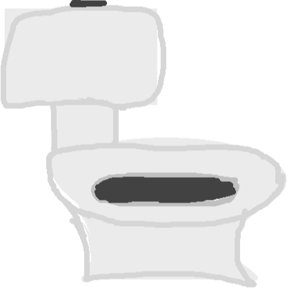 toilet - drawing