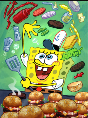 sponge bob, the legendary fry cook - image