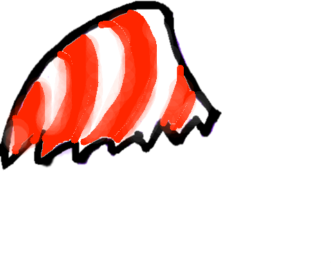 candy cane wing - drawing
