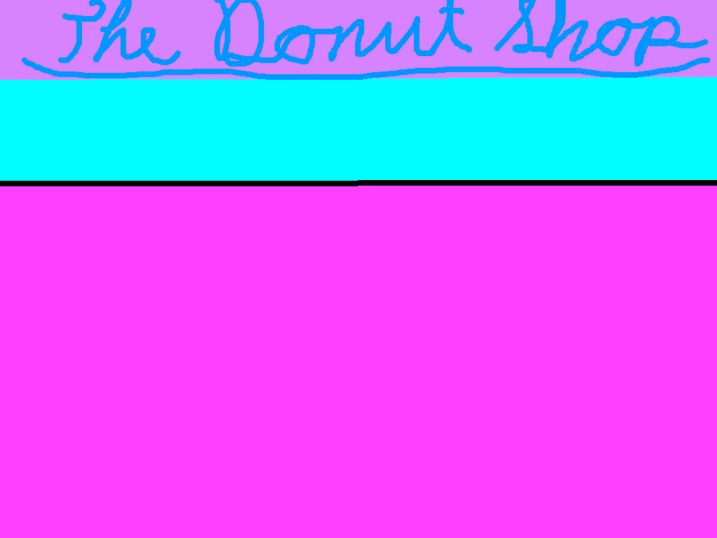 background scene - Doughnut Shop