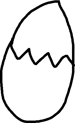 Egg 3 - cracked