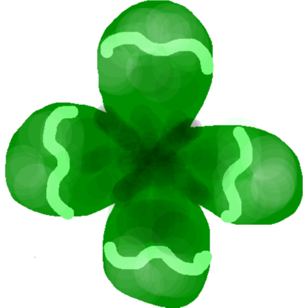 clover sticker - drawing