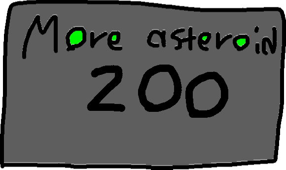 Mo asteroid - drawing