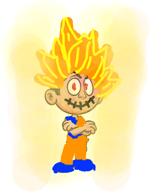 cartoon kids 08 - super saiyan