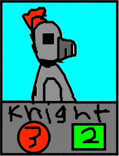 card holder 1 - knight
