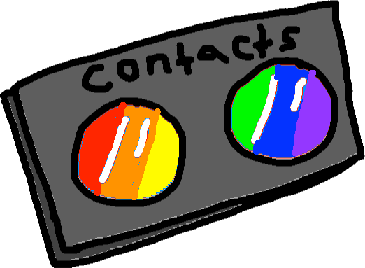contacts rainbow - drawing
