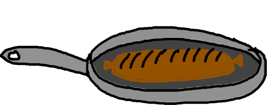 frying pan - sausage ready