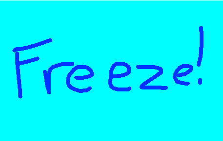 freeze - drawing
