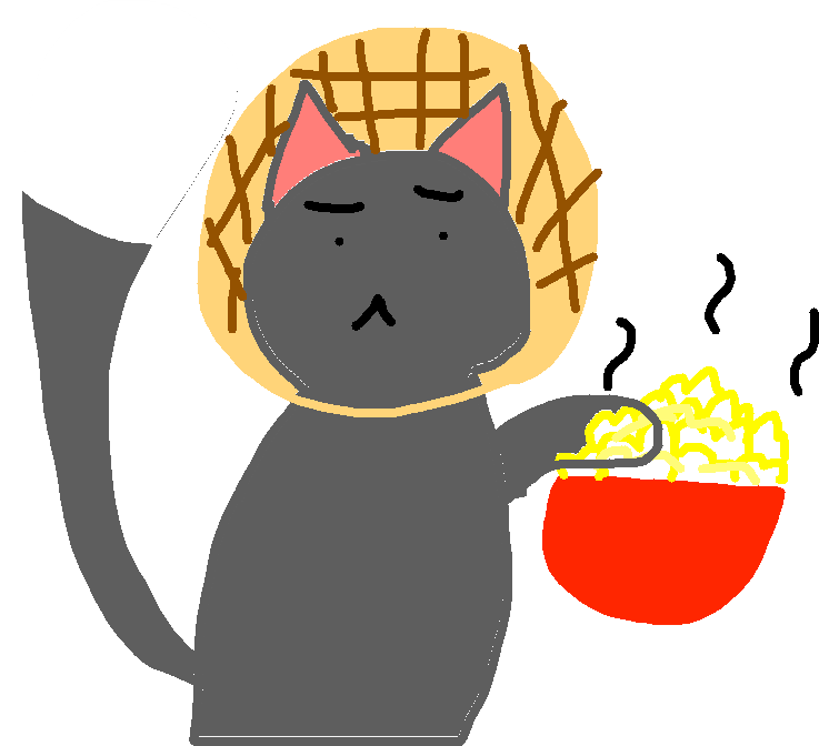 drawing - waffles with popcorn