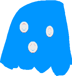 Blue Ghost - drawing