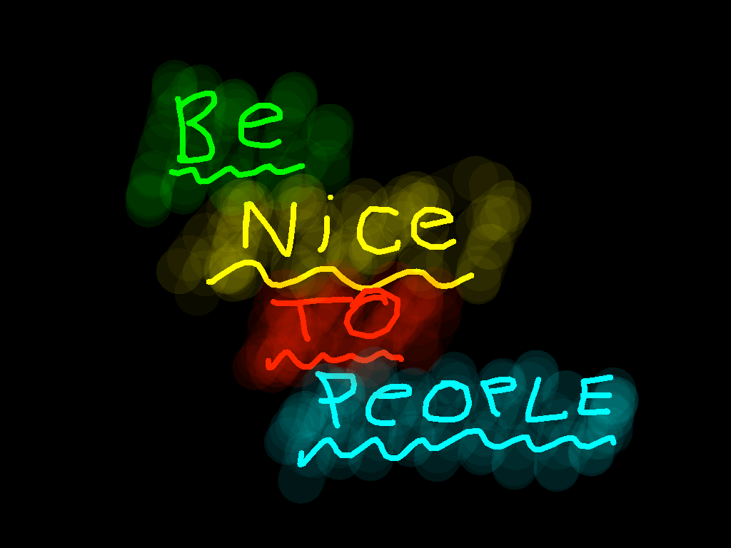 background scene - be nice to people