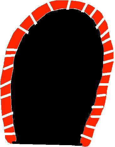 candy cane door - drawing