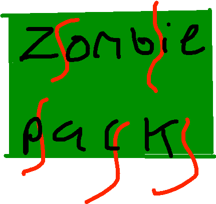 zombie pack - drawing
