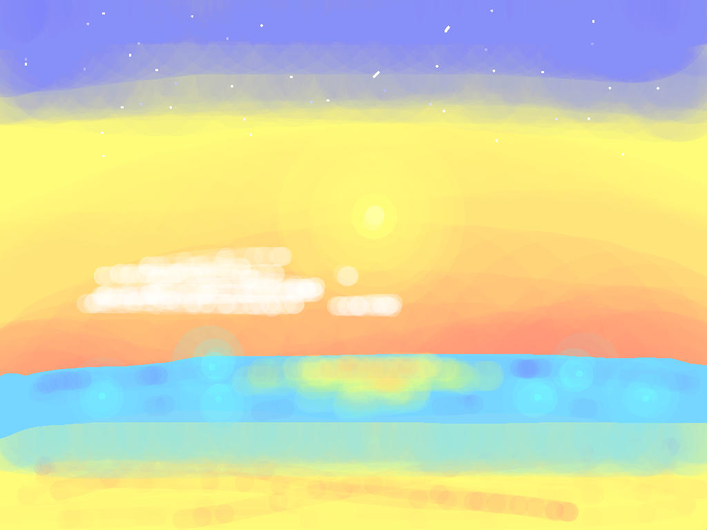 background scene - tropical sunset