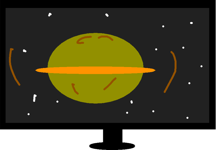 drawing - planet