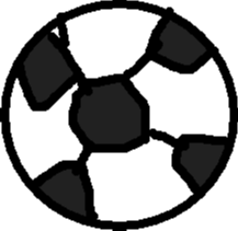 soccer ball - drawing