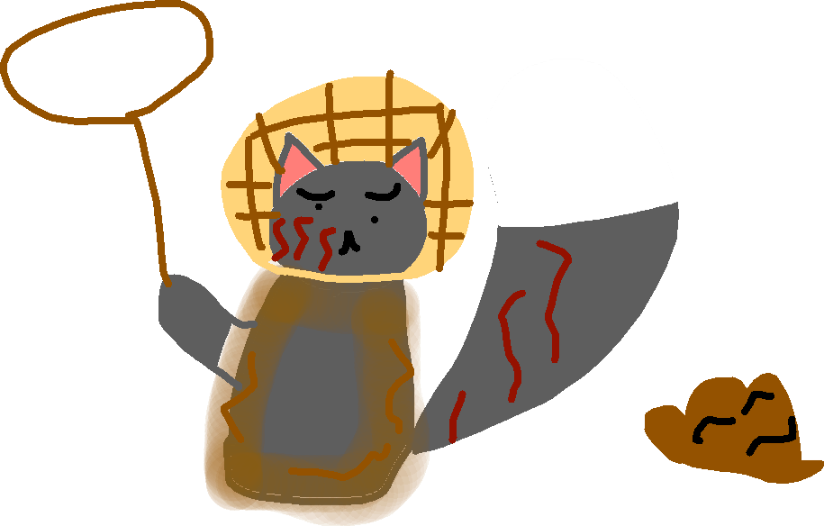 drawing - waffles after attack