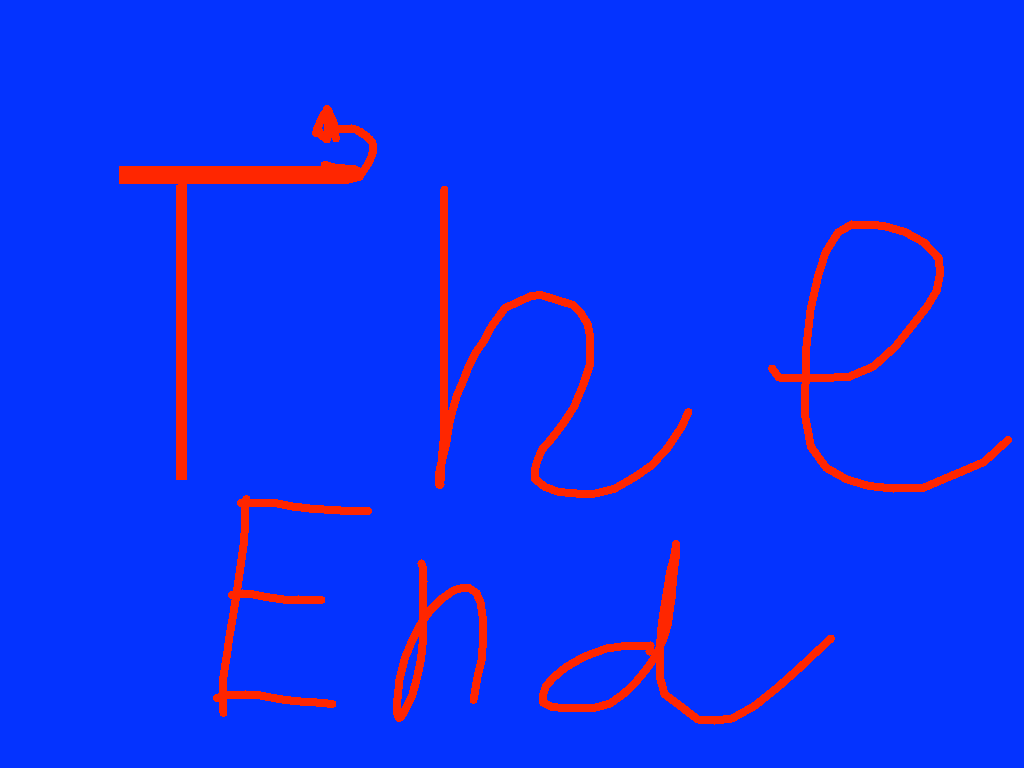The end - drawing